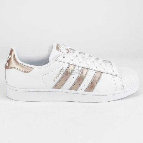 Adidas 阿迪达斯 Superstar 香槟金白色运动鞋