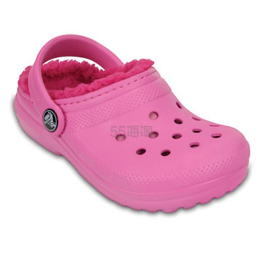 Crocs 卡骆驰 Classic Fuzz-Lined Clog 儿童加绒洞洞鞋 .99(约71元) - 海淘优惠海淘折扣|55海淘网