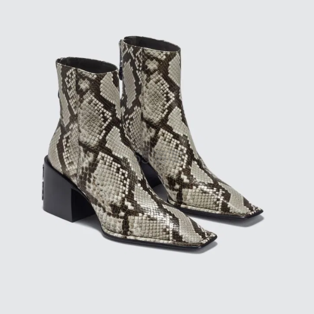 ALEXANDER WANG 大王蛇皮纹理高跟短靴 6.5(约3,937元) - 海淘优惠海淘折扣|55海淘网