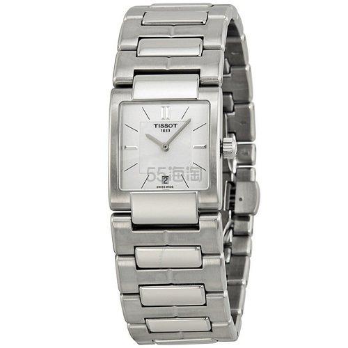【55专享】Tissot 天梭 T2 系列 银色女士气质腕表 T090.310.11.111.00