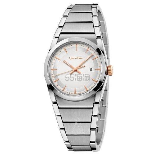 降价!Calvin Klein 卡尔文·克莱因 Step 系列 银色女士时装腕表 K6K33B46 (约417元) - 海淘优惠海淘折扣|55海淘网