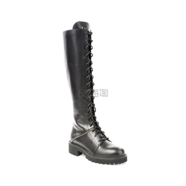 Giuseppe Zanotti 系带平底骑士靴长靴 4.99(约4,064元) - 海淘优惠海淘折扣|55海淘网