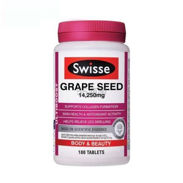 【满减9澳+直邮中国】Swisse 葡萄籽片 14250mg 180片