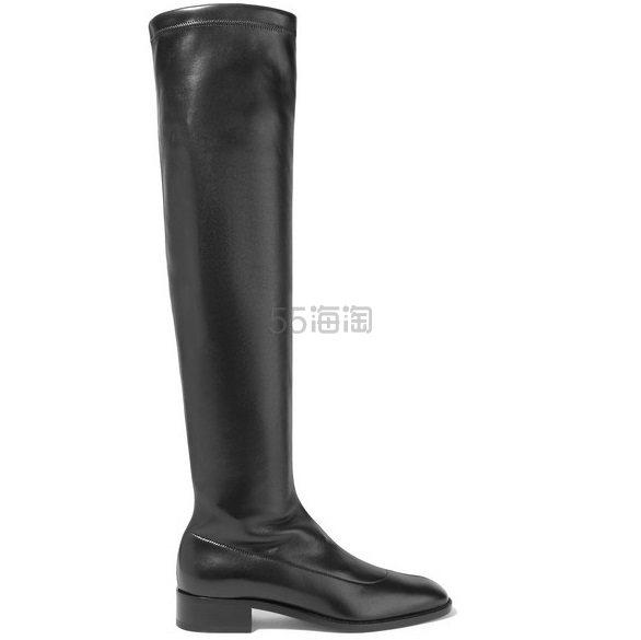 CHRISTIAN LOUBOUTIN Theophila 30 弹力皮革过膝袜靴 £1,355(约11,944元) - 海淘优惠海淘折扣|55海淘网