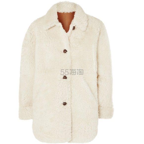 ISABEL MARANT Sarvey 大廓形羊毛皮外套 £2,350(约20,715元) - 海淘优惠海淘折扣|55海淘网