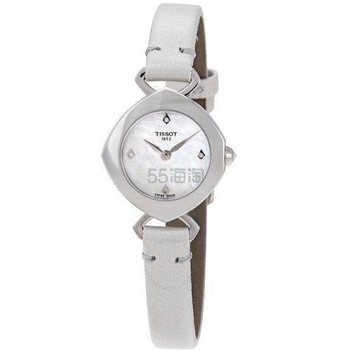 【55专享】Tissot 天梭 Femini-T 系列 银白色女士气质腕表 T113.109.16.116.01