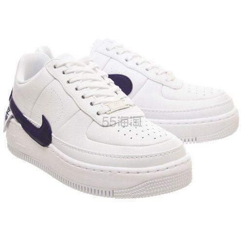 Nike 耐克 Air Force 1 空军1号 白紫色运动鞋 £60(约529元) - 海淘优惠海淘折扣|55海淘网