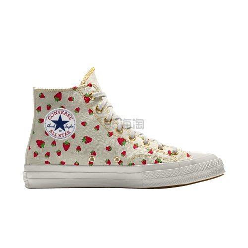 Converse 匡威 Chuck 70 小草莓印花高帮帆布鞋