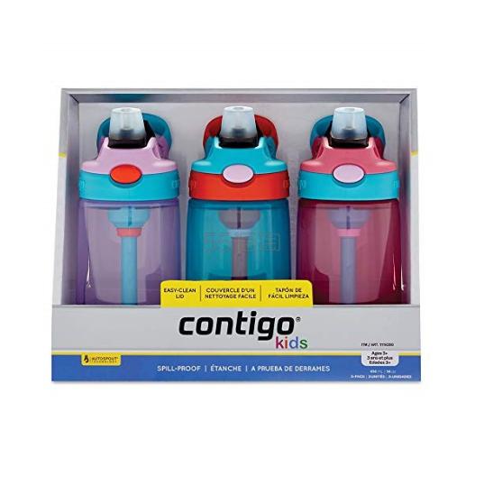 【满减9澳+免邮中国】Contigo 儿童水杯套装粉色 3支装 27.49澳币(约133元) - 海淘优惠海淘折扣|55海淘网