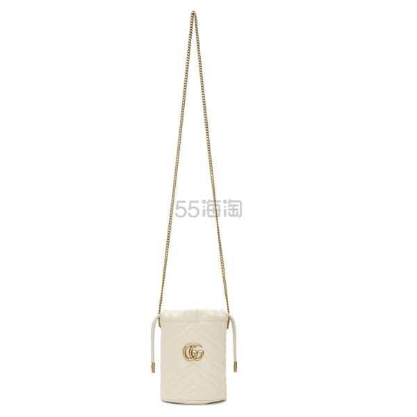 Gucci GG Marmont 白色迷你水桶包 5(约4,926元) - 海淘优惠海淘折扣|55海淘网