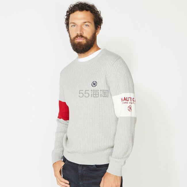 Nautica 拼接拼色针织卫衣 .7(约296元) - 海淘优惠海淘折扣|55海淘网