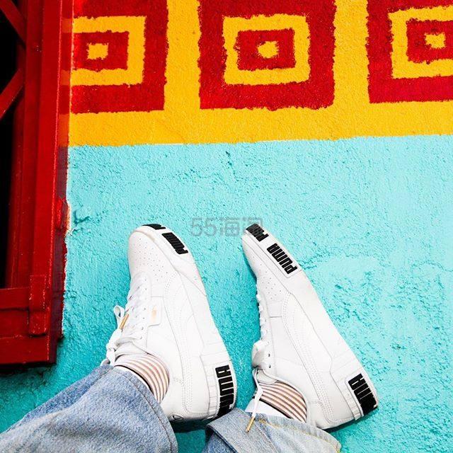 【码全 一双免邮】Puma 彪马 Cali 黑白拼色女款休闲运动鞋 ¥481.6 - 海淘优惠海淘折扣|55海淘网