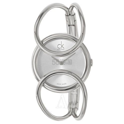 好价!Calvin Klein 卡尔文·克莱因 Inclined 系列 银色女士时装腕表 K4C2M116