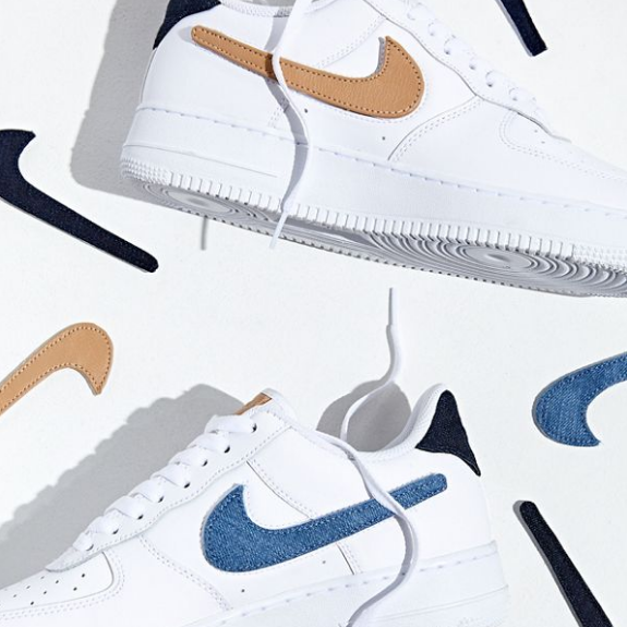 Nike 耐克 Air Force 1 07 Swoosh Patches 魔术贴运动鞋