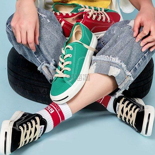 【返利14.4%】feiyue 飞跃 开口笑低帮帆布鞋 3色