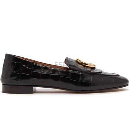 CHLOÉ The C 女士鳄鱼皮纹理乐福鞋 €371.28(约2,861元) - 海淘优惠海淘折扣|55海淘网
