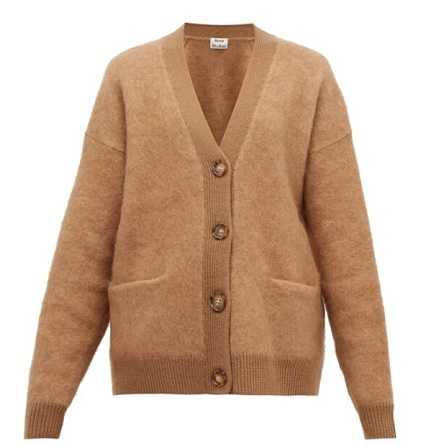 ACNE STUDIOS Rives buttoned 经典驼色开衫