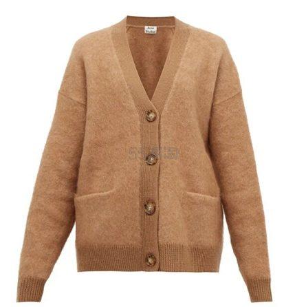 ACNE STUDIOS Rives buttoned 经典驼色开衫 €353(约2,768元) - 海淘优惠海淘折扣|55海淘网