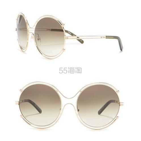 Chloe 59mm 圆形太阳镜 .97(约638元) - 海淘优惠海淘折扣|55海淘网