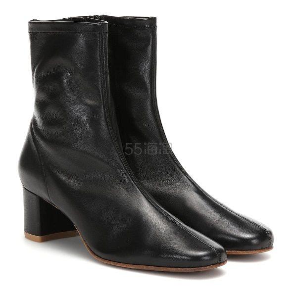 BY FAR Sofia 黑色踝靴