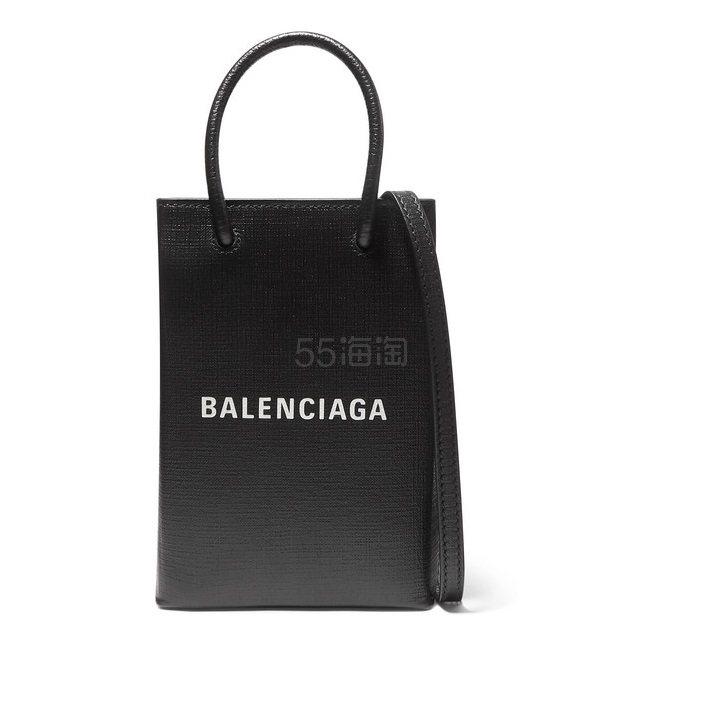 BALENCIAGA 印花纹理皮革迷你手提包 £595(约5,271元) - 海淘优惠海淘折扣|55海淘网