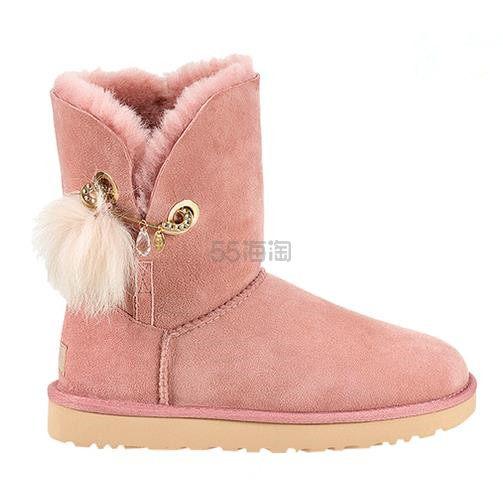 【Anglababy同款】UGG Irina 毛球女款雪地靴 7.96(约908元) - 海淘优惠海淘折扣|55海淘网