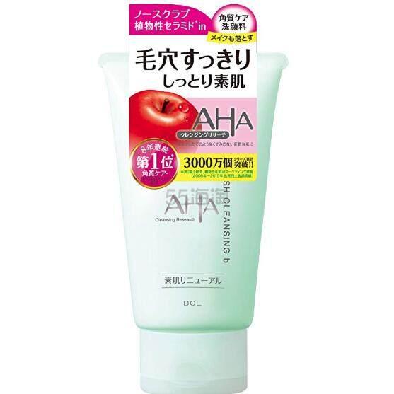 【日亚自营】AHA 果酸酵素深层清洁毛孔去黑头洁面乳洁面膏 120g