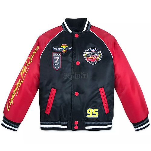 Disney 迪士尼 红黑配色男孩车队夹克外套