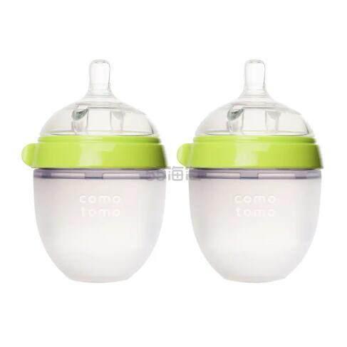 Comotomo 可么多么 婴儿硅胶奶瓶 绿色 150ml*2 .39(约129元) - 海淘优惠海淘折扣|55海淘网