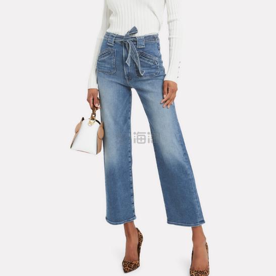 MOTHER 中高腰腰带直筒牛仔裤 9(约1,345元) - 海淘优惠海淘折扣|55海淘网