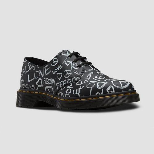 Dr. Martens 1461 黑色涂鸦牛津鞋