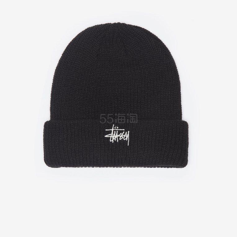 Stussy 基本款黑色毛线帽 (约249元) - 海淘优惠海淘折扣|55海淘网