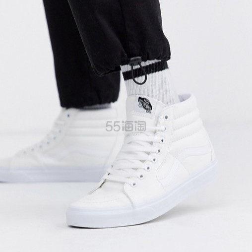 Vans Sk8-Hi 纯白高帮运动鞋 ¥468.46 - 海淘优惠海淘折扣|55海淘网