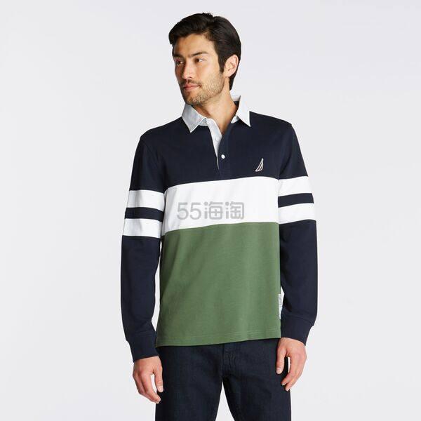 Nautica 拼接拼色 Polo 长袖 .62(约428元) - 海淘优惠海淘折扣|55海淘网