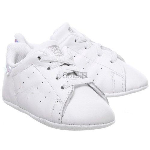 Adidas 阿迪达斯 Stan Smith Crib 白色金属渐变色婴儿鞋 £24.99(约219元) - 海淘优惠海淘折扣|55海淘网