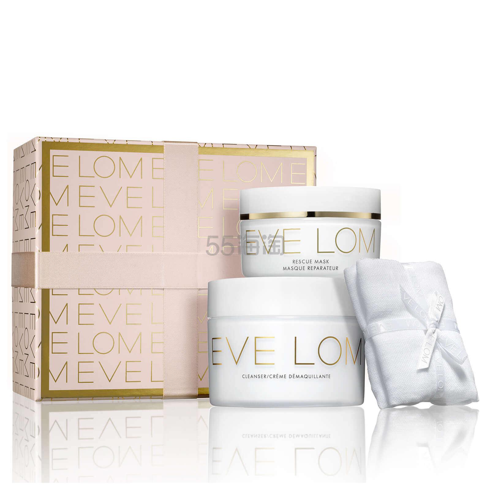 【好价】额外7.2折!EVE LOM 圣诞礼盒 卸妆膏200ml+急救面膜100ml+洁面巾