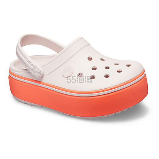 3折!Crocs 卡骆驰 Crocband Platform Clog 女童厚底洞洞鞋 .49(约75元) - 海淘优惠海淘折扣 55海淘网