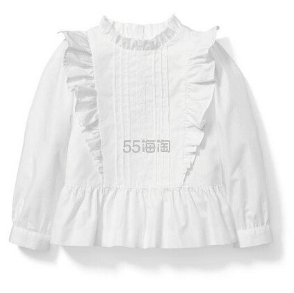 Janie and Jack 童款白色花边衬衫 .19(约194元) - 海淘优惠海淘折扣|55海淘网