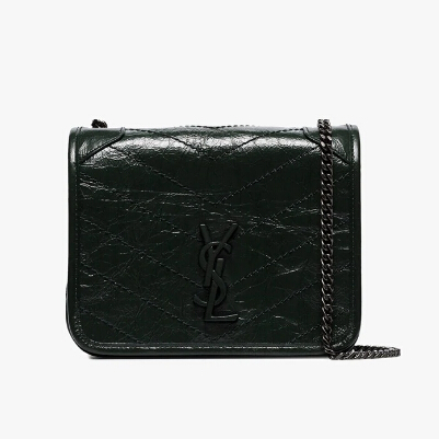 Saint Laurent Niki Vintage Mini 深绿色包包