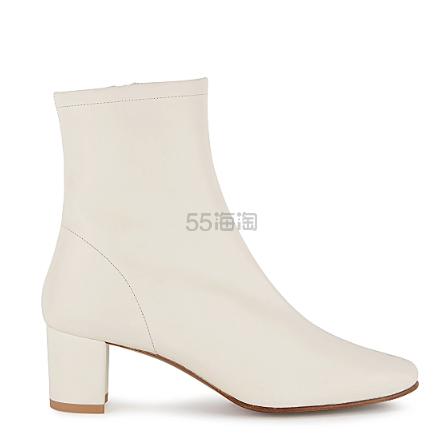 By Far Sofia 65 米白色皮革踝靴 5(约3,037元) - 海淘优惠海淘折扣 55海淘网