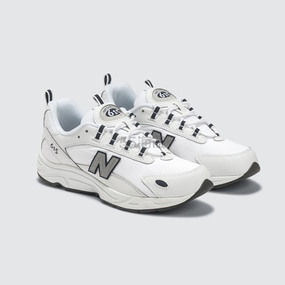 【金元中同款】NEW BALANCE 615 白色女士运动鞋 .4(约510元) - 海淘优惠海淘折扣|55海淘网