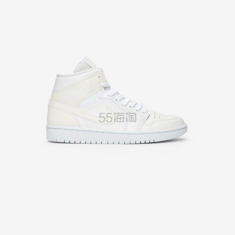 Air Jordan 1 Mid 全白女士运动鞋 9(约779元) - 海淘优惠海淘折扣|55海淘网