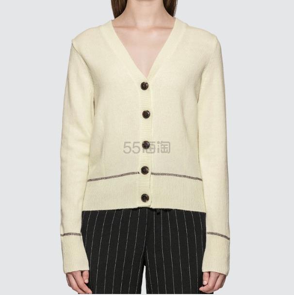 GANNI 米色合身毛衣开衫 8.5(约775元) - 海淘优惠海淘折扣|55海淘网