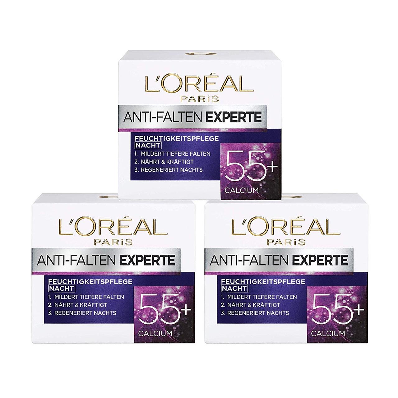 【含税直邮】L'Oréal 欧莱雅 抗皱保湿晚霜 50ml*3瓶