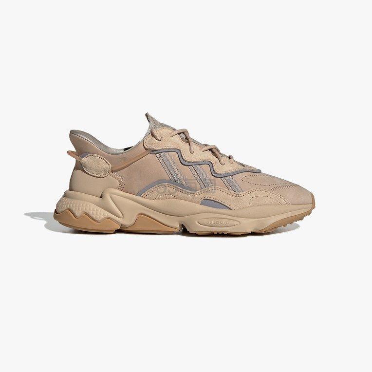 【码全】adidas Originals Ozweego 灰棕色女士老爹鞋