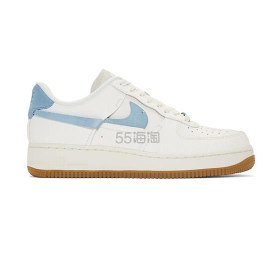 Nike Off-White Air Force 1 07 浅蓝色 swoosh 运动鞋 9(约833元) - 海淘优惠海淘折扣|55海淘网