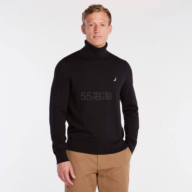 Nautica 基础 Logo 高领针织衫 .12(约372元) - 海淘优惠海淘折扣|55海淘网