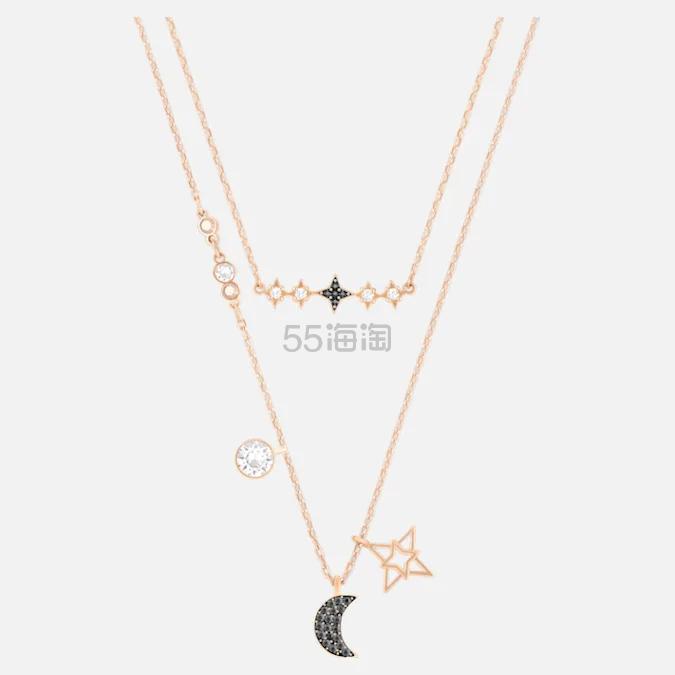 Swarovski Symbolic Moon 新款星月双层项链