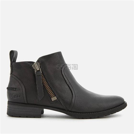 【黄金码 一双免邮】UGG 女士拉链黑色短靴 ¥665.21 - 海淘优惠海淘折扣 55海淘网