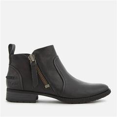 【黄金码 一双免邮】UGG 女士拉链黑色短靴